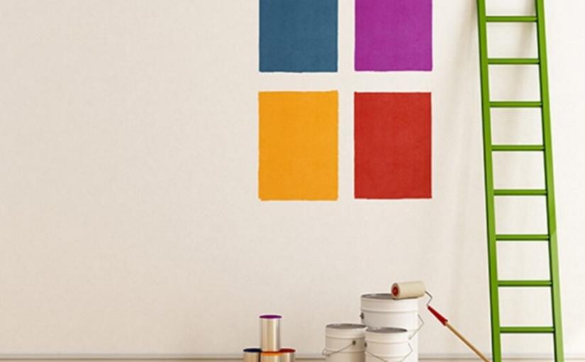 probando colores en pared