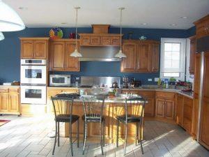 cocina color azul petroleo
