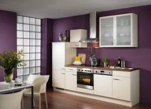 cocina pintada de morado