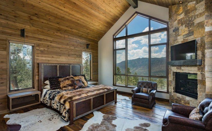 habitación estilo rustico