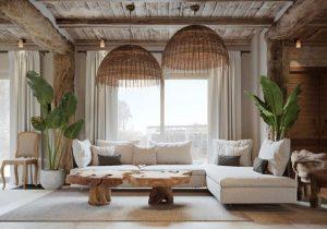 sala de estar estilo rustica