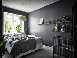 dormitorio gris elegante